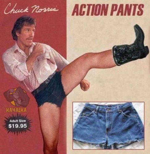 Чак Норрис рекламирует шорты