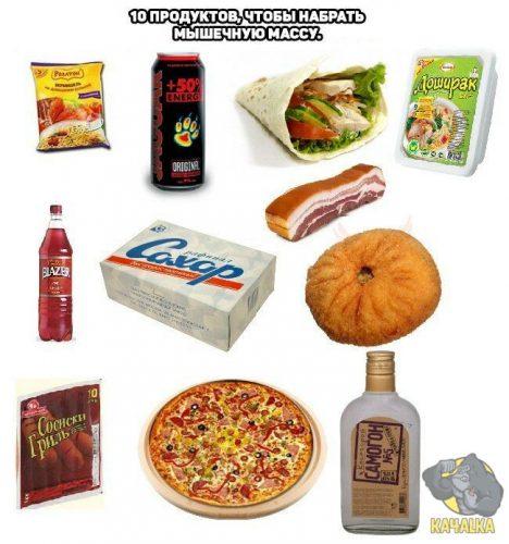 Десять продуктов, чтобы набрать мышечную массу
