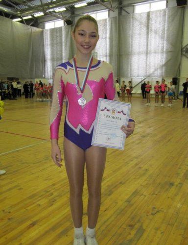 Марьяна Наумова на соревнованиях по спортивной аэробике