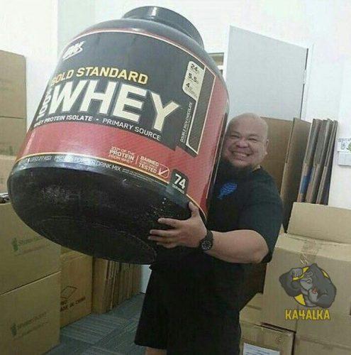 Самая большая банка протеина Whey Gold Standard