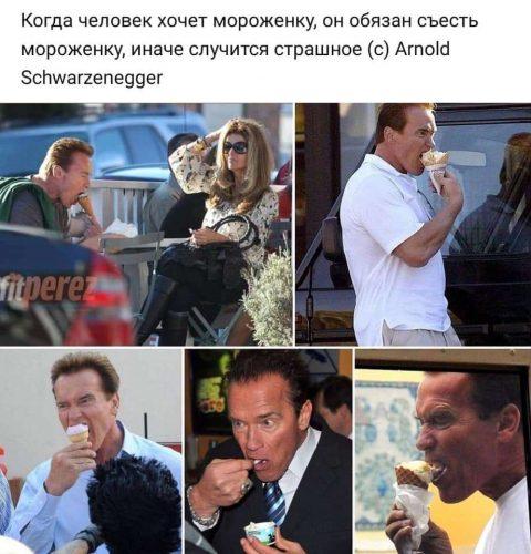 Арнольд Шварценеггер и мороженное